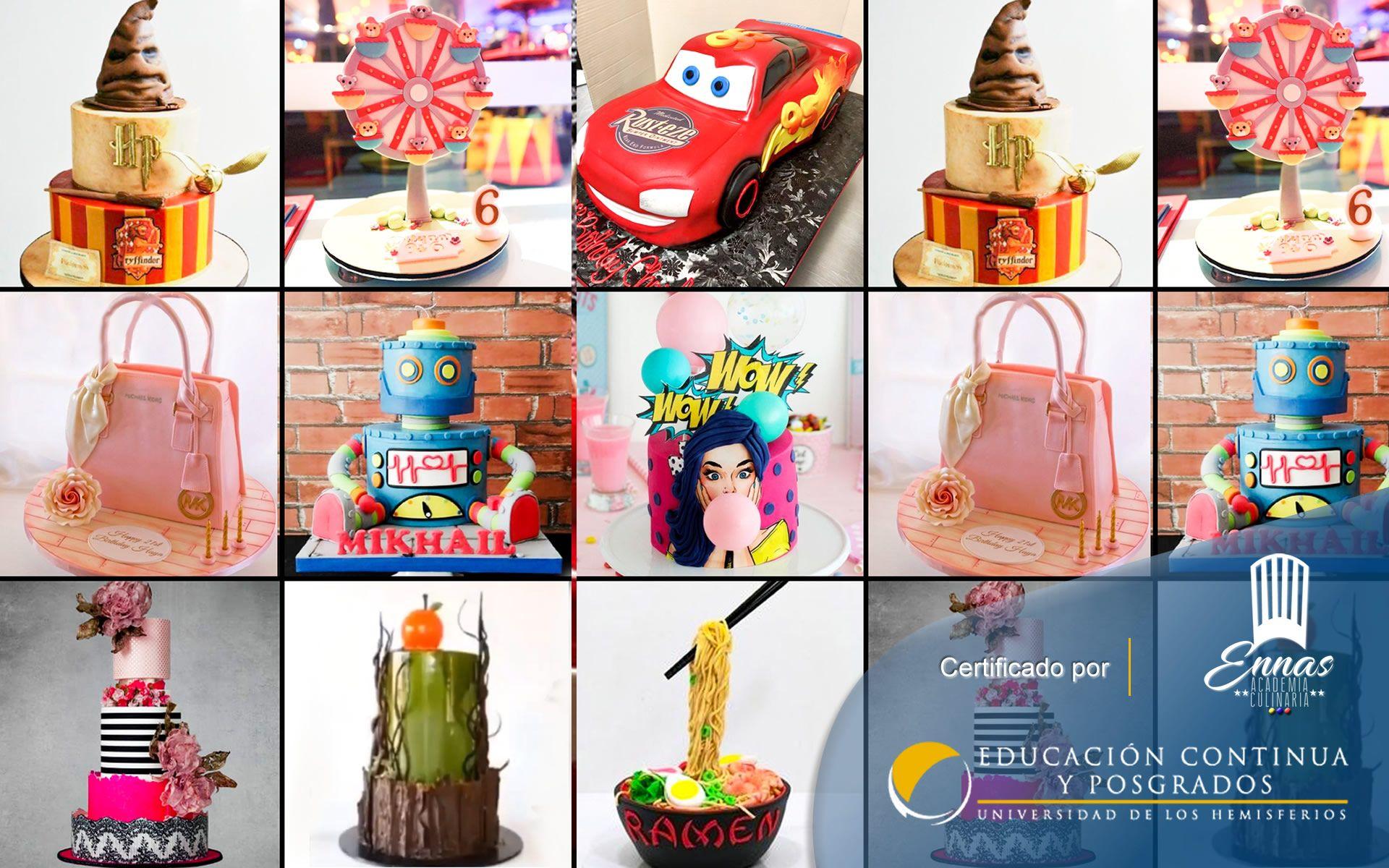 Certificación en Cake Designer (Proyectos de Pastelería)